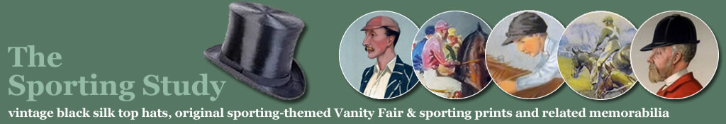 Vintage silk top hats, Vanity Fair sporting prints and sports memorabilia from The Sporting Study